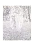 Two Angels, 1904 Giclee Print by Carlos Schwabe