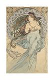 La Musique, 1898 Reproduction procédé giclée par Alphonse Mucha
