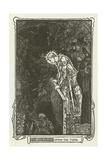 Sir Galahad Opens the Tomb Lámina giclée por Henry Justice Ford
