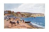 The Sands, New Swanage Giclee-trykk av Alfred Robert Quinton