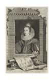 Portrait of Elizabeth Stuart, Queen of Bohemia Lámina giclée por Gerrit van Honthorst