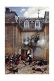 A Surprise Attack, Metz, 1884 Giclee Print by Alphonse Marie de Neuville