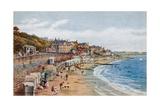 The Beach, Lyme Regis Giclee-trykk av Alfred Robert Quinton