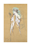 Elles - with Mirror in Hand, 1896 Lámina giclée por Henri de Toulouse-Lautrec