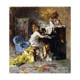 Woman at a Piano Reproduction procédé giclée par Giovanni Boldini