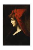 The Red Hat Reproduction procédé giclée par Jean-Jacques Henner