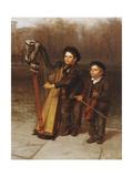 The Little Strollers, 1874 Gicléedruk van John George Brown