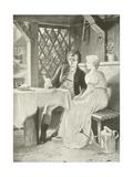 Goethe and Frederike Giclee Print by Hermann Kaulbach