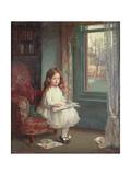 Portrait of Clara Hughes, 1902 Gicléetryck av Sir William Orpen