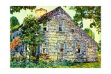 Old House, East Hampton, 1917 Giclee Print by Childe Hassam