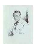 Sidney Dark, English Writer, 1925 Gicléetryck av Sir William Orpen