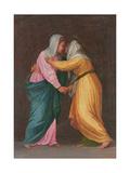 The Visitation, Carro Della Zecca Giclée-tryk af Jacopo da Carucci Pontormo
