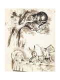Scene from the Mad Hatter's Tea Party, C.1865 Giclee-trykk av John Tenniel