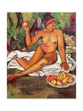 Young Half-Caste Woman Giclée-Druck von Suzanne Valadon