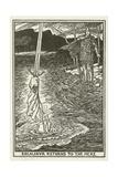 Excalibur Returns to the Mere Lámina giclée por Henry Justice Ford