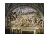 Fanlight, Frescoed Giclée-tryk af Raffaello Sanzio