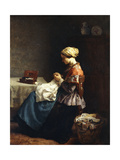 The Little Seamstress, 1858 Giclee Print by Jules Breton