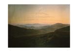 Dawn Giclée-tryk af Caspar David Friedrich