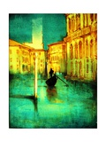 The Soloist and Quiet Gondelier (Venice) Photographic Print by Andrew Hewkin