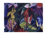 Horse and Eagle, 1912 Giclee Print by Franz Marc