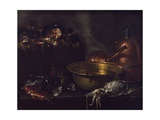 Still Life with Fish Giclee Print by Giuseppe Recco