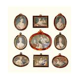 Selection of Miniatures Giclee-trykk av Rosalba Carriera