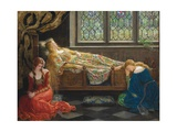 The Sleeping Beauty, 1921 Gicléedruk van John Collier