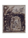 Alexander Pope in His Grotto Giclee Print by William Kent