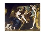 Lot and His Daughters Lámina giclée por Massimo Stanzione