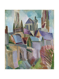 Towers of Laon, 1912 Giclée-tryk af Robert Delaunay