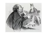 The Lawyer, Caricature Reproduction procédé giclée par Honore Daumier