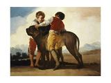 Boys with Mastiff Reproduction procédé giclée par Suzanne Valadon