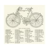 The Parts of a Bicycle Reproduction procédé giclée