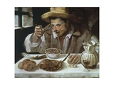 The Bean Eater, 1583-1585 Giclée-tryk af Annibale Carracci