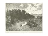 The Death of Brunehaut Giclee Print by Evariste Vital Luminais
