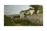 View of Piagentina, 1863 Reproduction procédé giclée par Silvestro Lega
