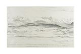 Mountain Panorama in Wales - Cader Idris Giclée-Druck von Cornelius Varley