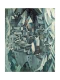 The Town No.2, 1910 Reproduction procédé giclée par Robert Delaunay