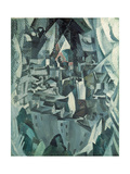 The Town No.2, 1910 Giclee Print by Robert Delaunay