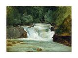 A Waterfall in Upper Bavaria, 1830 Giclee Print by Christian Ernst Bernhard Morgenstern