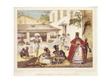 Interior of a Gipsy's House, Brazil, 1835 Giclee Print by Jean Baptiste Debret