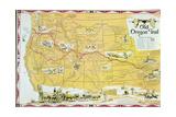 Map of the Old Oregon Trail Gicléedruk van  American School
