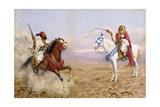 Arab Horsemen Giclee Print by Giulio Rosati