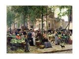 The Square in Front of Les Halles, 1880 Giclée-tryk af Victor Gabriel Gilbert