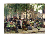 The Square in Front of Les Halles, 1880 Lámina giclée por Victor Gabriel Gilbert