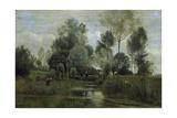 Printemps Reproduction procédé giclée par Jean-Baptiste-Camille Corot