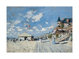 On the Beach at Trouville, 1870 Giclee Print by Claude Monet