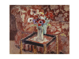 Vase of Anemones on a Table, C.1906 Giclée-Druck von Edouard Vuillard
