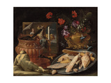 Allegory of the Five Senses Giclee Print by Giuseppe Recco