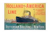 Poster Advertising 'Holland-America Line' Giclée-Druck von  French School